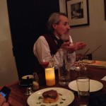 Phil Zachariah entertains the dinner guests as Mr Dickens. 4th December 2014.