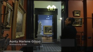 Aunty Marlene in the Art Gallery of Ballarat