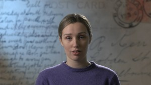 The film features Federation University Australia actors reading authentic letters. Pictured here is Alisha Eddy. Photograph by Jary Nemo.