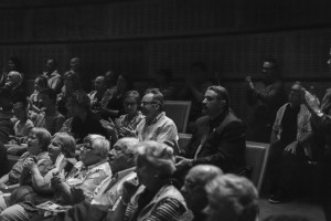 The audience applauds the film. Photograph by Aldona Kmiec.